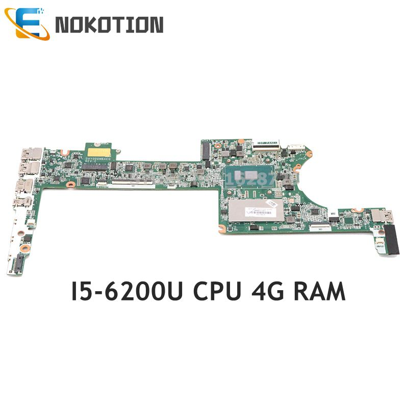 NOKOTION 849427-001 849427-501 849427-601 for <font><b>HP</b></font> Spectre X360 13-4000 Laptop motherboard DAY0DDMBAE0 SR2EY I5-6200U CPU <font><b>4GB</b></font> <font><b>RAM</b></font> image