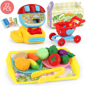 Toy-Set Cash Register Mini Supermarket Simulation Birthday-Gift Play Pretend Kids Home