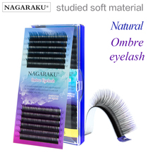 New arrival NAGARAKU rainbow lash  color lash colour lash ombre  synthetic mink soft natural mink individual eyelash extension
