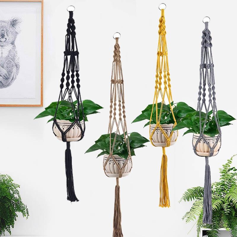 Hot Sales Colorful Macrame Plant Hanger, Plant Hanger For Home Decoration For Garden Flower Hanger