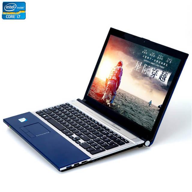 15,6 pulgadas Intel Core i7 8GB RAM 2TB HDD Windows 7/10 sistema DVD RW RJ45 Wifi función Bluetooth correr rápido portátil ordenador portátil