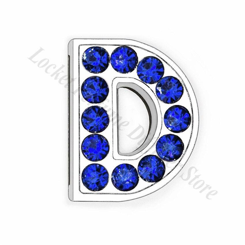 8mm-铬色宝蓝色钻-字母穿戴-D