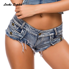 Low waist Women jeans denim shorts 2019 Summer den