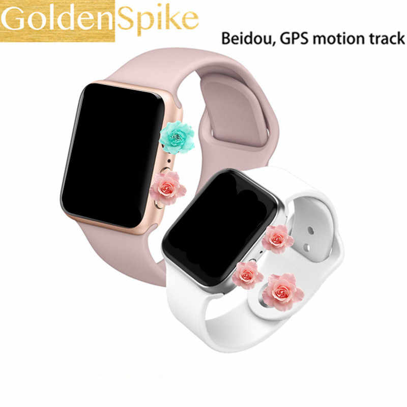 GOLDENSPIKE IWO9 ساعة ذكية سلسلة 4 44 مللي متر مع GPS الرياضة مراقب معدل ضربات القلب ساعة ذكية لنظام تشغيل الأندرويد هاتف الايفون والأندرويد ووتش