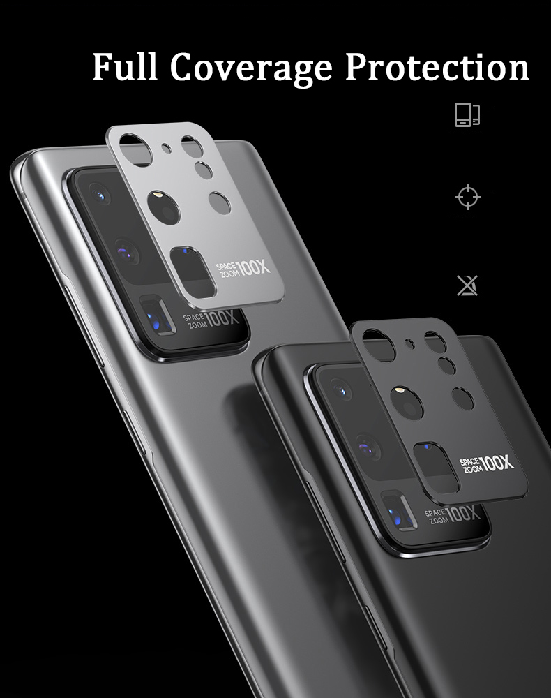 Camera Protector Tempered Glass Film For Samsung S20 Ultra  Metal Rear Lens Protection Ring Case For Galaxy S20 Plus 5G