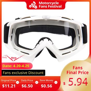 HEROBIKE motocykl Off-wyścigi drogowe gogle zimowe Skate sanki ATV okulary Motocross DH okulary na rower górski pojedyncza soczewka czyści tanie i dobre opinie Jeden rozmiar Unisex Kobiety Mężczyźni Jasne MULTI Glasses Motocross Glasses Protection Guard Protective Gear Protector