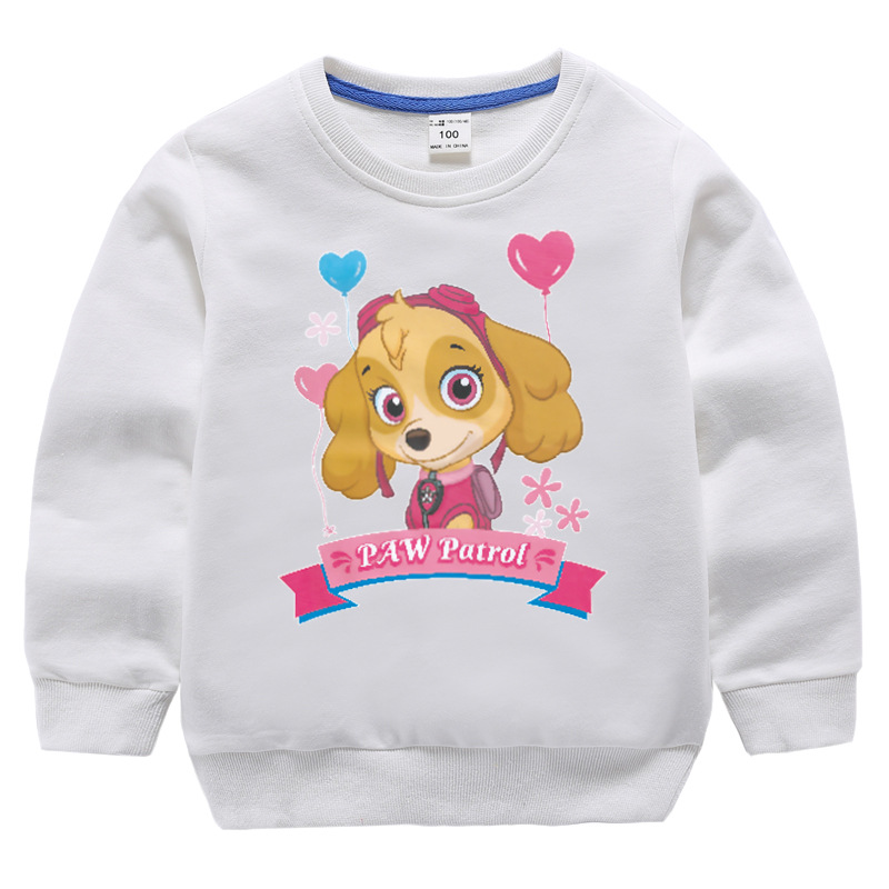 Spring And Autumn Children Pullover Sweater Children Autumn And Winter Crew Neck Tops Cartoon Paw Patrol Girls New Style Childre