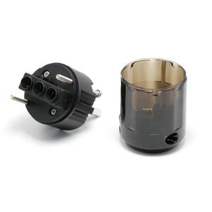Image 2 - Hight Quality P 004E Rhodium plated  EUR AC Power plug hifi audio Schuko plug C 004 IEC Connector