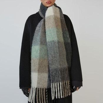 Womens Scarf Cashmere Winter Blanket Type Color Plaid Tassel Luxury  Women