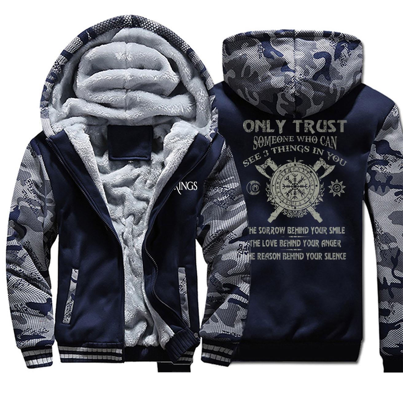 2020 Viking Legend Outwear Men Winter Thick Men's Hipster Hoodies Vintage Streetwear Clothing Motorcycle Camouflage Jackets Warm