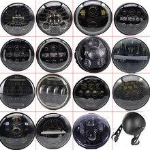 Faro LED de 5,75 pulgadas para motocicleta luz para motocicleta, Halo, Ojos de Ángel DRL blancos para Dyna Sportster Softail 5, Faro led para Moto de 3/4