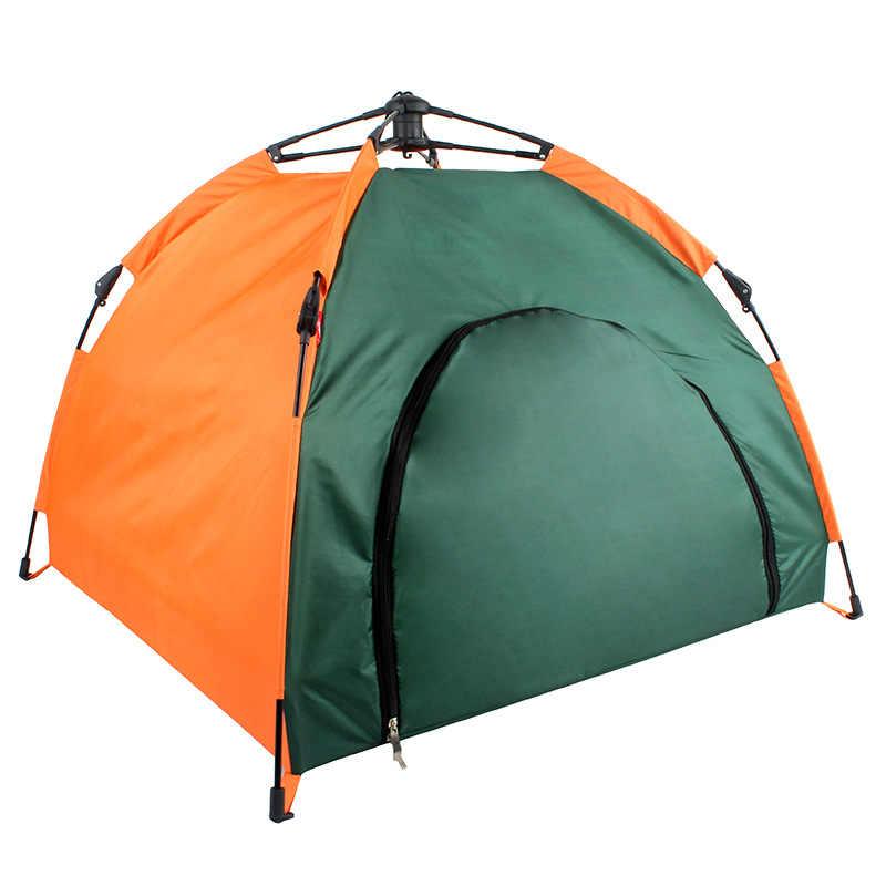 خيمة الحيوانات الأليفة طوي بيت قطة بيت غير نافذ للمطر واقية من الشمس المحمولة السفر المحمول خيمة الحيوانات الأليفة