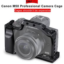 UURig C-M50 Professional DSLR Camera Cage for Canon M50 M5 Arca Quick Release EOS With Hot Shoe Arri Hole 1/4 3/8