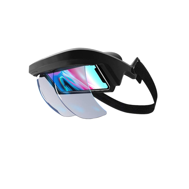 Fones de ouvido inteligentes da realidade aumentada vr dos vidros 3d da ar para o vídeo 3-d e os jogos no iphone e no android (4.5-5.5 Polegada s