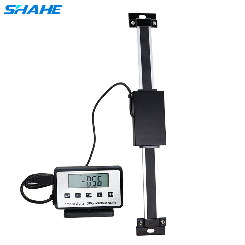 0 300mm,12 Remote Digital linear Scale Table Readout Scale for Bridgeport Mill Lathe Linear Ruler with LCD Base