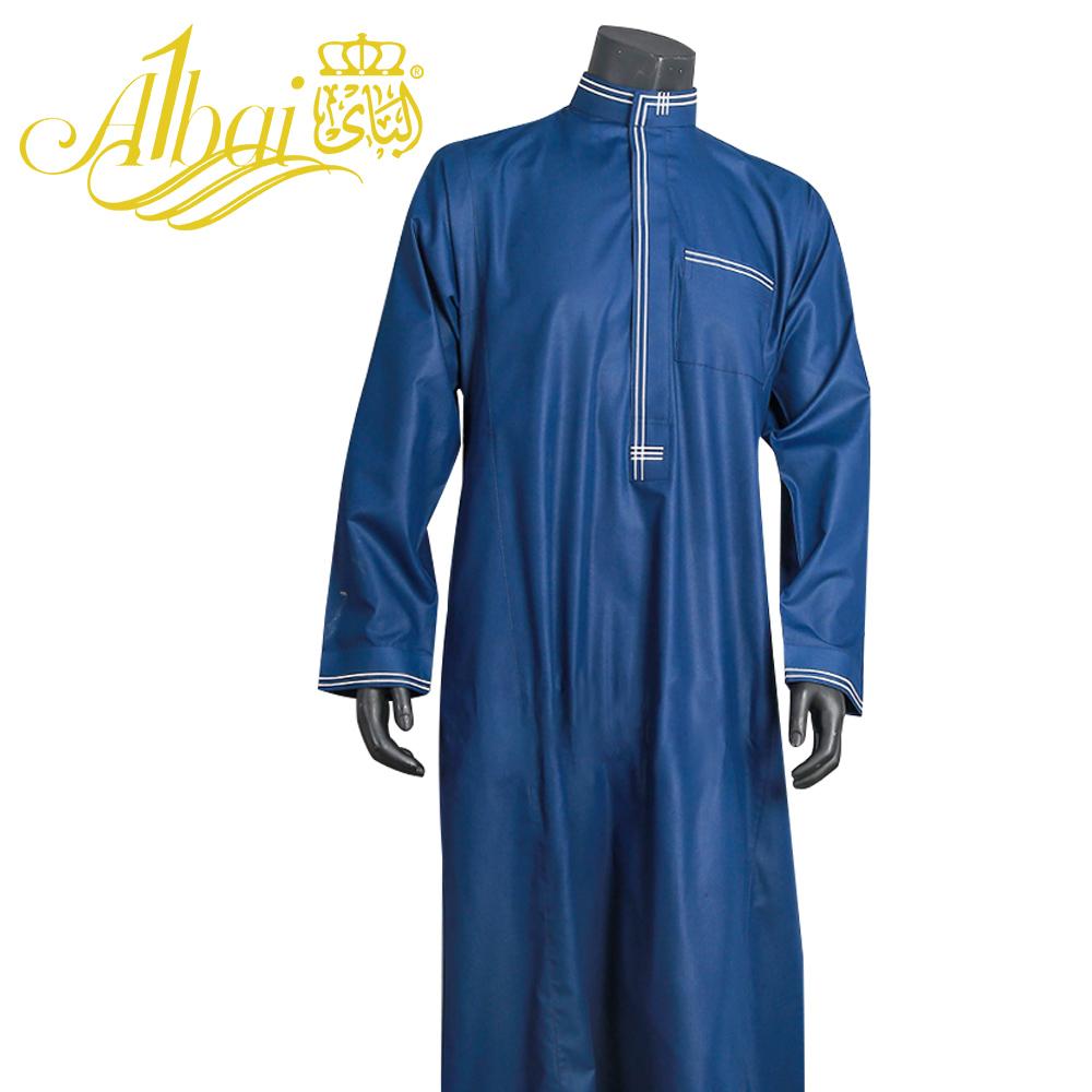 Men Islamic Arab Muslim Kaftan Stand Collar Short Sleeve Pockets Retro Loose Robes Middle East Solid Men Jubba