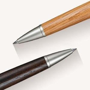 Image 2 - ワンピース日本ユニ純粋な麦芽ボールペン0.7ミリメートルオーク材天然またはダークブラウン色SS 1015
