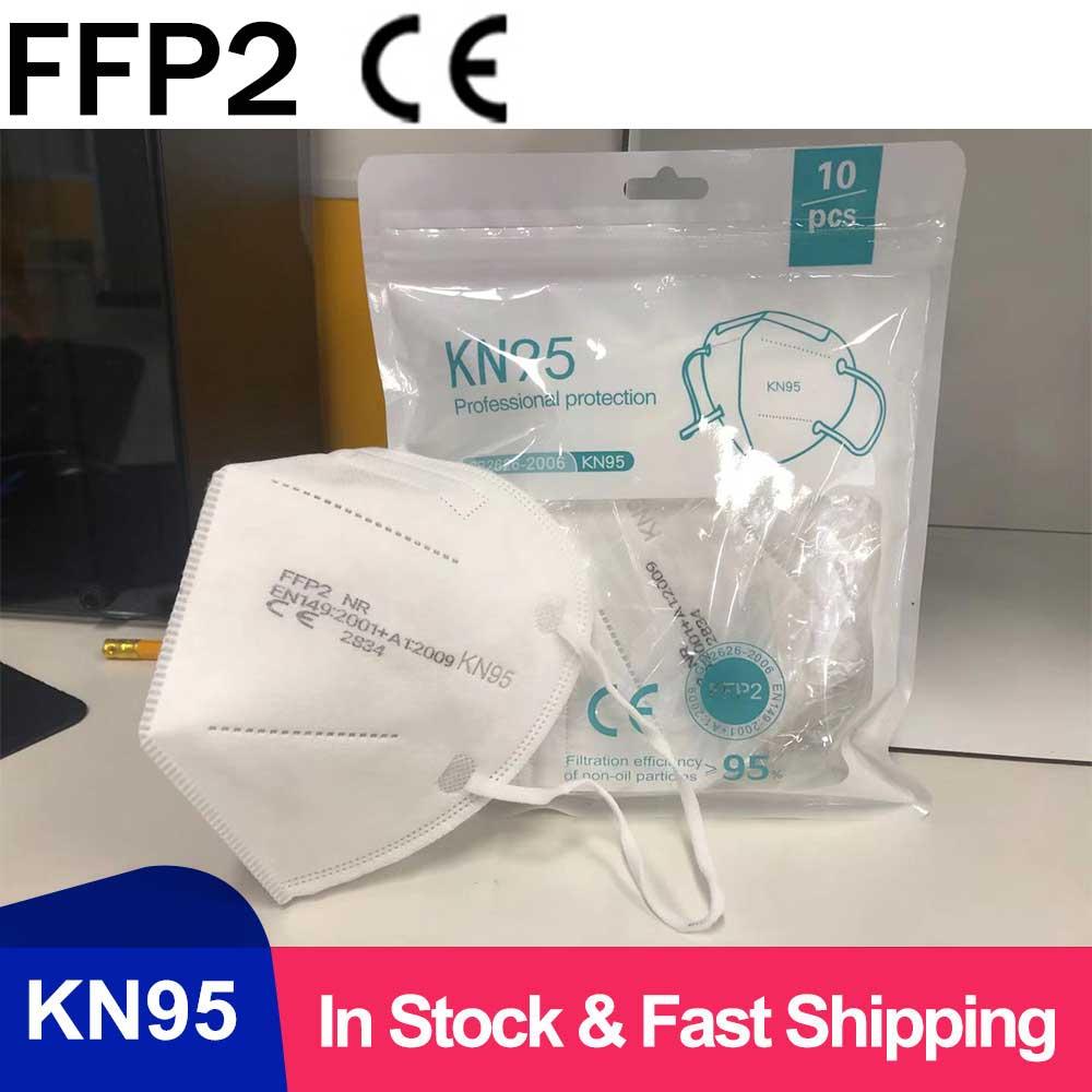 Mascarilla FFP3 KN95 de 5 capas, máscara de protección de 2 colores, respirador de seguridad, antipolvo, anticontaminación, FFP2, envío en 24 horas