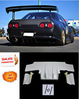For Nissan Skyline R32 GTR TS Style Type 2 FRP Fiber Unpainted Rear Diffuser w/ Metal Fitting Car Accessories Exterior kit(5pcs)