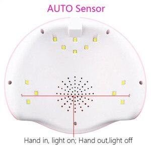 Image 4 - Set de manicura juego de uñas 24W UV lámpara LED secador Kit de uñas Gel eliminador de esmalte pedicura eléctrica taladro de uñas Lima herramientas de arte de uñas