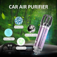 Hot Mini Car Formaldehyde Removal Air Care Purifier Air Freshener Negative Ion Generator Low Noise Auto Accessories 3 Colors