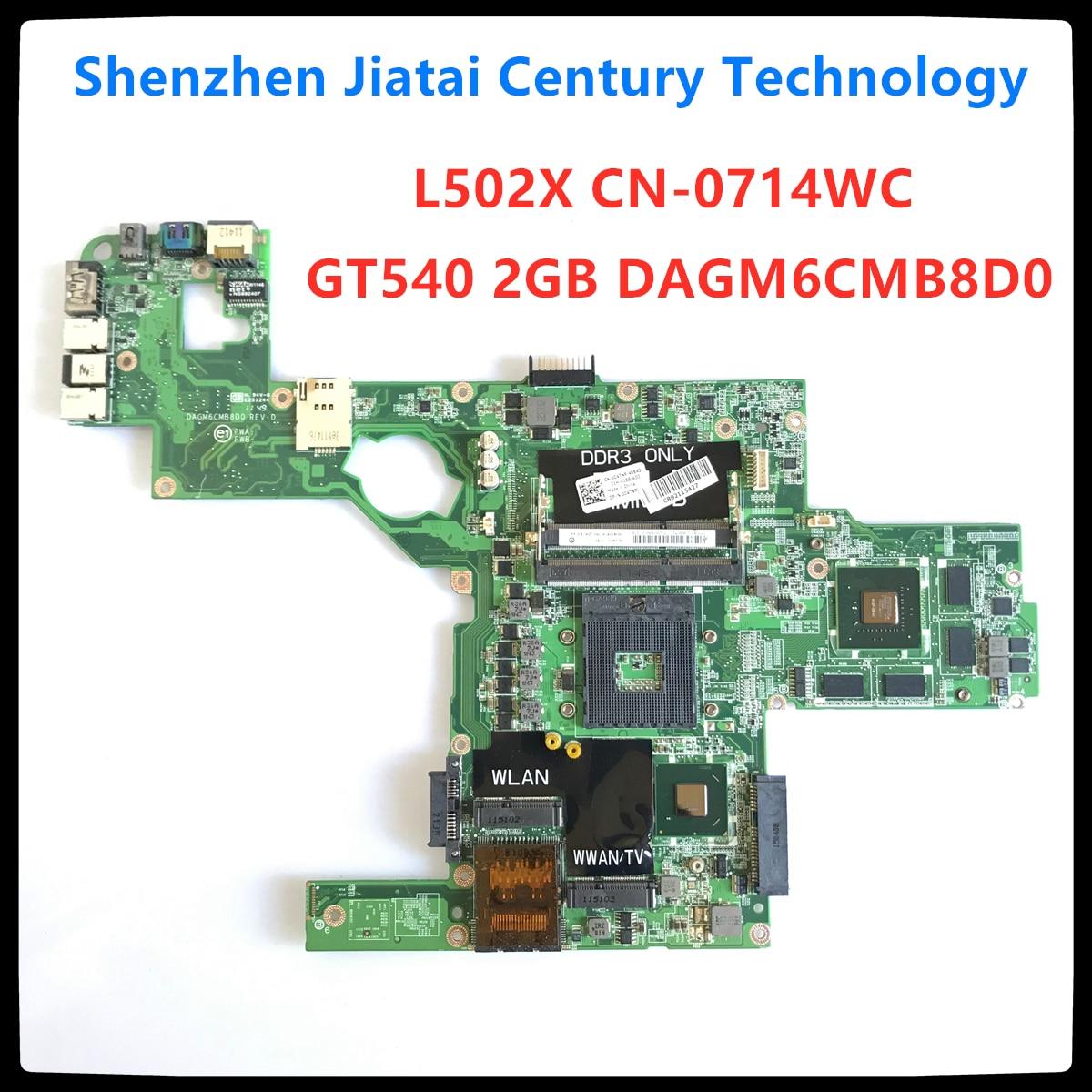 Материнская плата DAGM6CMB8D0 для Dell XPS L502X материнская плата для ноутбука 714WC 0714WC CN-0714WC GT540M 2G полностью протестированная работа 100% оригинал