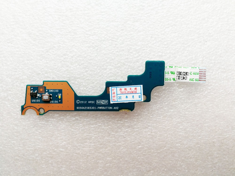 original for <font><b>HP</b></font> EliteBook 840 <font><b>G1</b></font> <font><b>850</b></font> <font><b>G1</b></font> ZBook 14 power switch button board 6050A2560301 6050A2560301-PWRBUTTON-A02 image