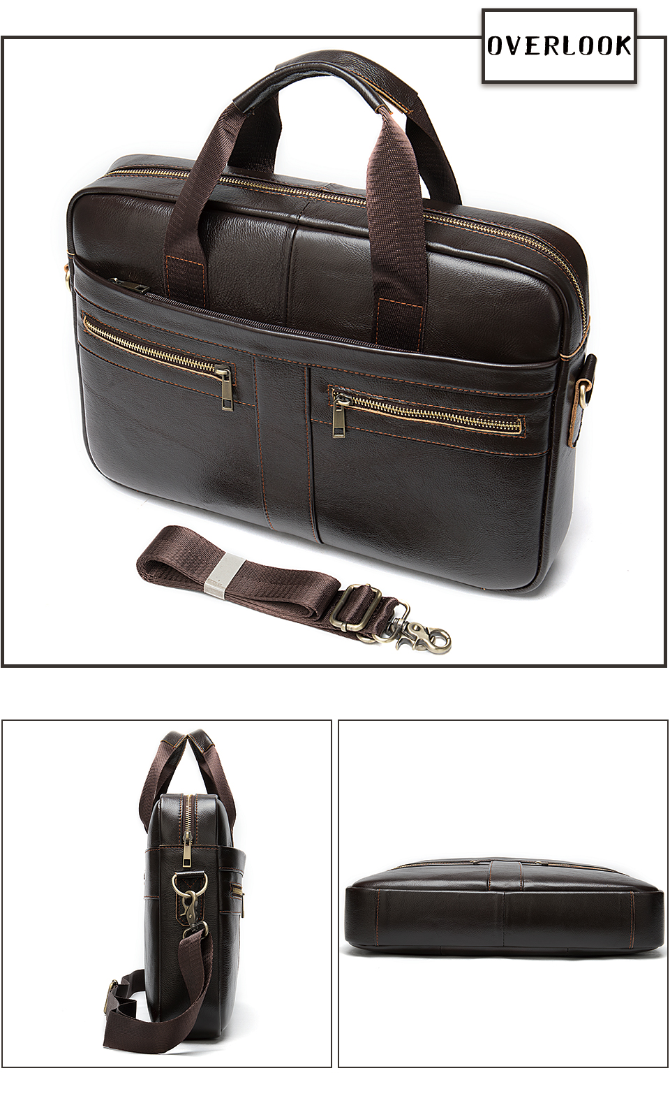 Hc58895555d3b41b08fdf4519ad2f1b90X WESTAL Bag men's Genuine Leather briefcase Male man laptop bag natural Leather for men Messenger bags men's briefcases 2019