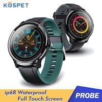 Kospet التحقيق الرجال ساعة ذكية بلوتوث مستديرة Smartwatch الرياضة سوار ساعة تعقب معصمه مع 1.3 بوصة 2021New