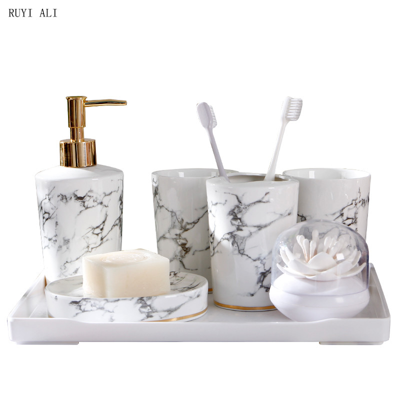 Set Wash Nordic Lmitation Marble