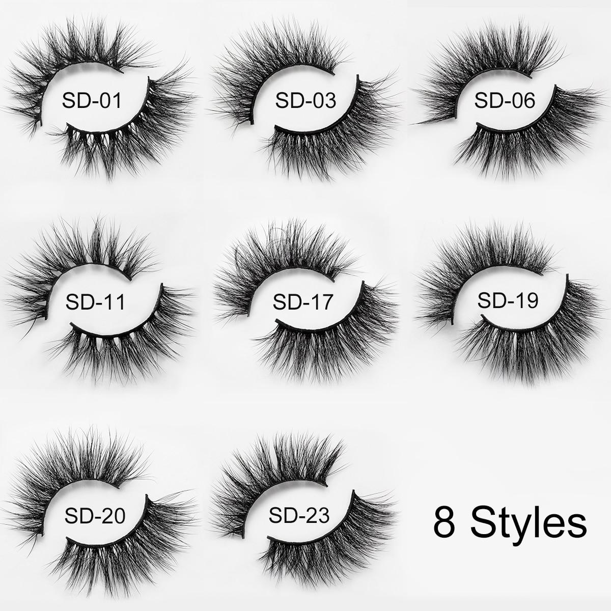 Image 5 - 5 Pairs 3D Mink Eyelashes False Eyelashes Natural Long /Thick 3D Eyelashes Crisscross Full Strip Handmade Lashes Makeup-in False Eyelashes from Beauty & Health