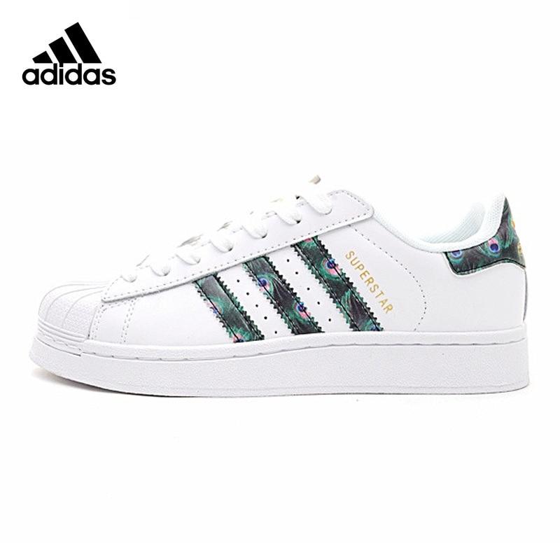 Chaussures de skateboard pour femmes Adidas Superstar authentique résistant respirant coloré queue décontracté CP9388