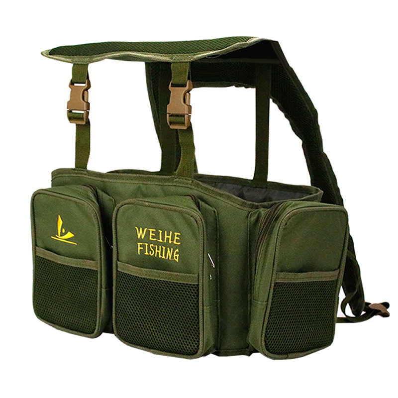 1*Nylon Adjustable Seat Boxes Sea Fishing Harness Bag Rucksack Pocket Portable