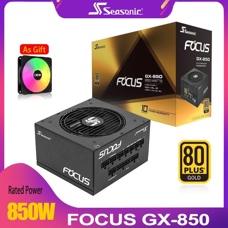 Seasonic GX850W Power Supply PC PSU PFC Silent Fan 850W ATX 24pin 12V 80PLUS Gold PC Computer SATA Gaming Power Supply
