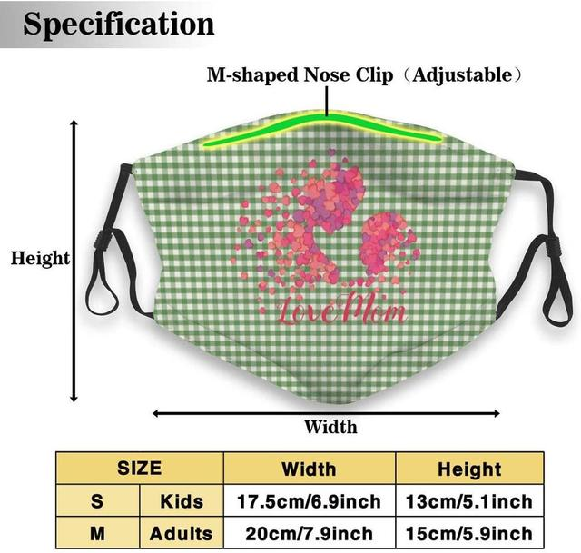 Cute Cats Colorful Pattern Washable Reusable   Mask, Cotton Anti Dust Half Face Mouth Mask For Kids Teens Men Women With 5