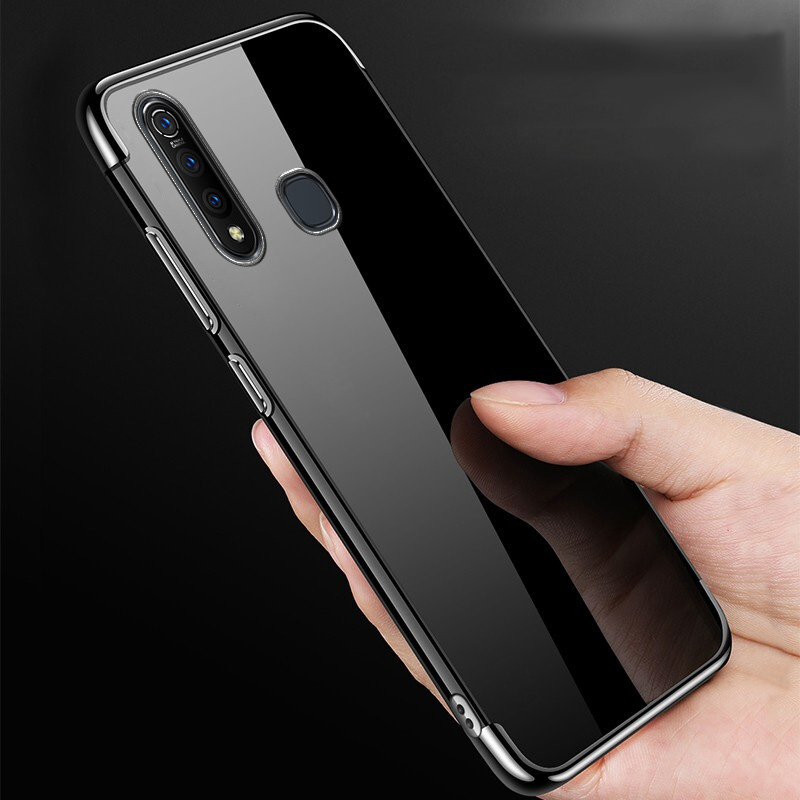 Clear Soft Plating Case For Vivo IQOO 3 5G Neo Case Silicon Transparent Ultra Thin Cover For Vivo X30 Pro Z6 S6 S5 Y19 Y17 Cases