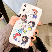 Princesa alice merida anna lisa kawaii macio caso de telefone para iphone 11 pro max para iphone xr xs x 8 7 plus capa para iphone xsmax(China)