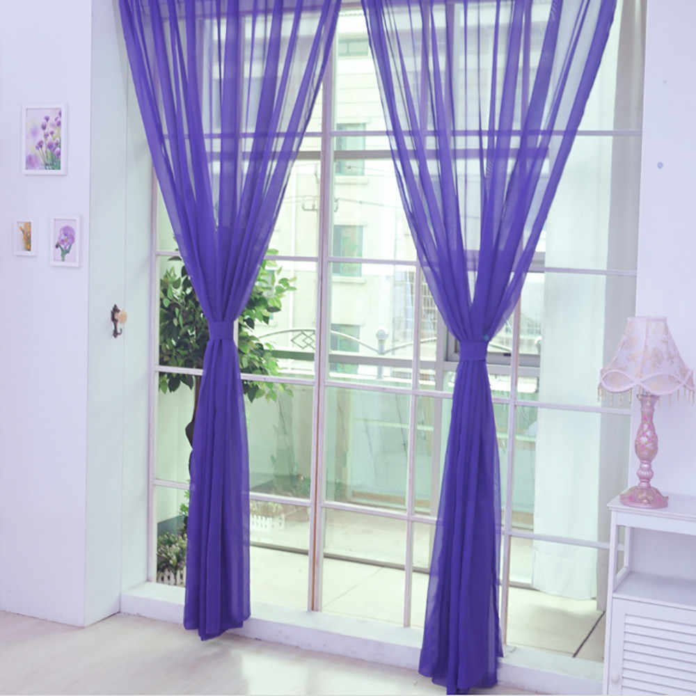 Curtain Window String Curtains Living Room Bedroom Drape Panel Tulle Modern Window Treatments Scarf Valances 100x200cm
