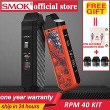 Smok Portable Pod Mod 40W Electronic Cigarette Kit SMOK RPM40 Vape 1500mAh&4.3ml RPM Pod&4.5ml Nord Cartridge POD Vapor
