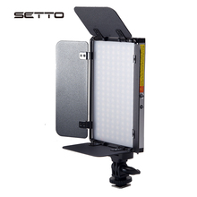 Двухцветный СВЕТОДИОДНЫЙ светильник с регулируемой яркостью для видеосъемки YouTube, фото и видеосъемки с Barndoor 3200 5600K CRI 96 +