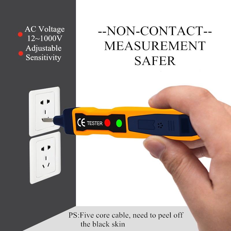 LED Light AC Electric Voltage Tester Volt Alert Pen Detector Sensor 90~1000V 1pc Dropshopping