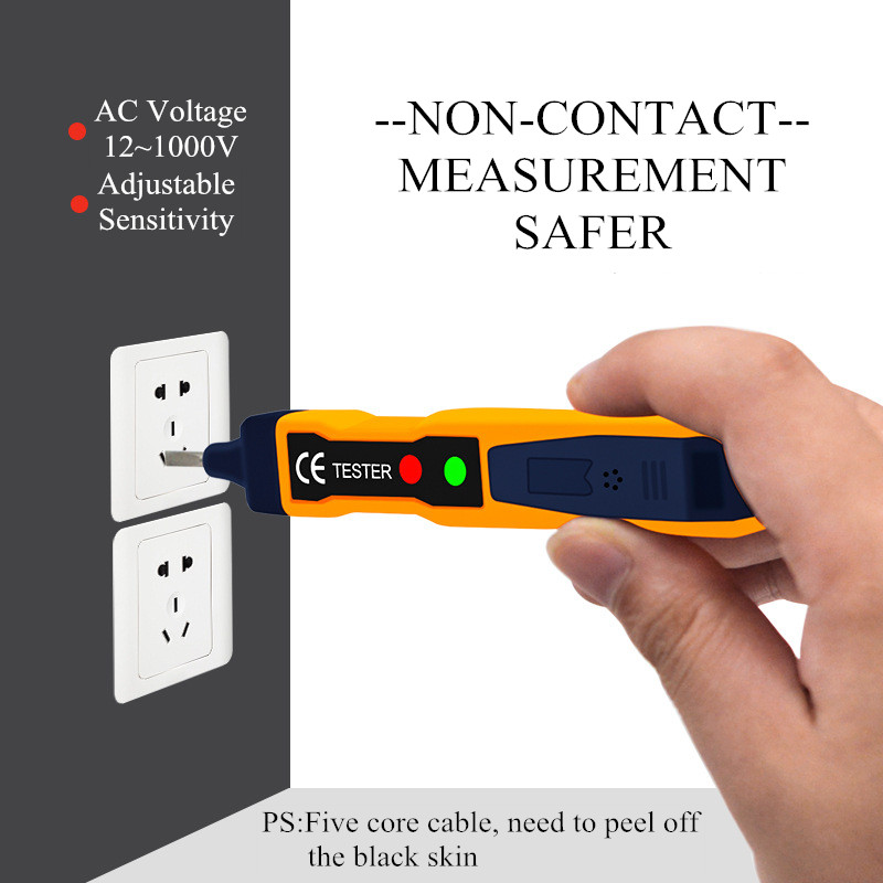 Non Contact 12-1000V Voltage Tester Detector Pen Electrical Volt Alert AC Sensor