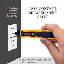 LED Light AC Electric Voltage Tester Volt Alert Pen Detector Sensor 90~1000V 1pc Dropshopping