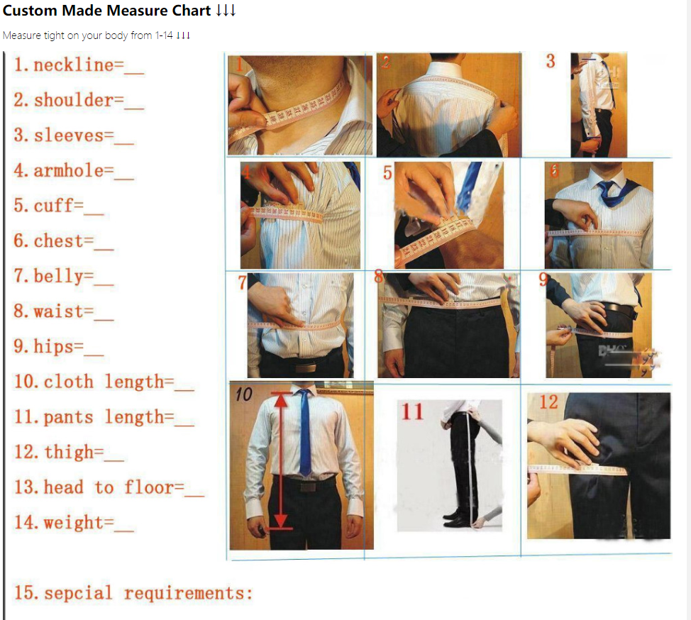 Classy Grooms Wedding Tuxedos Slim Fitted Personal Custom Suits Groomsmen Suit Two Pieces Prom Formal Suits (Jacket+Pant) 4
