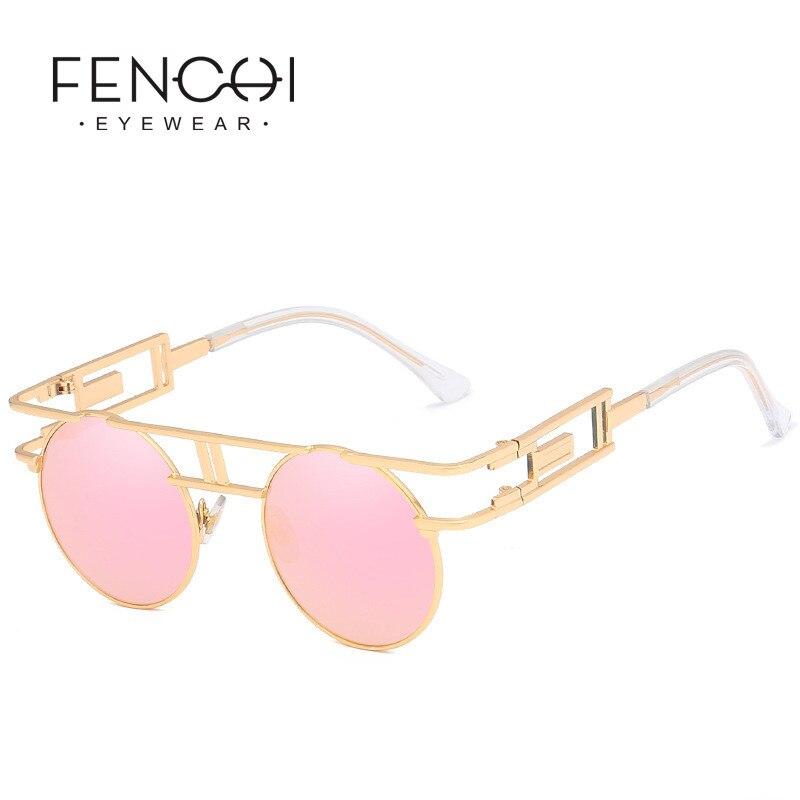 Pink White Women Sunglasses Men Zonnebril Dames Vintage Black Clear Driving Rose Gold Frame Sun Glasses Female Oculos Feminino