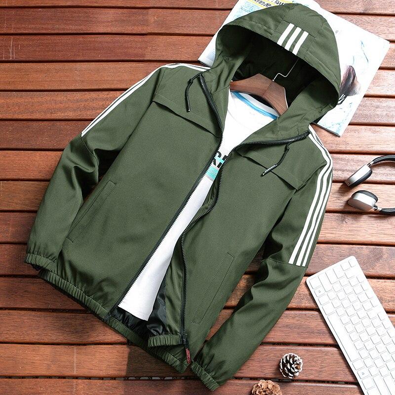 2019 Zip Up Men Jacket Spring Autumn Fashion Brand Slim Fit Coats Male Casual Baseball Bomber Jacket Mens Overcoat Plus Size 4XL
