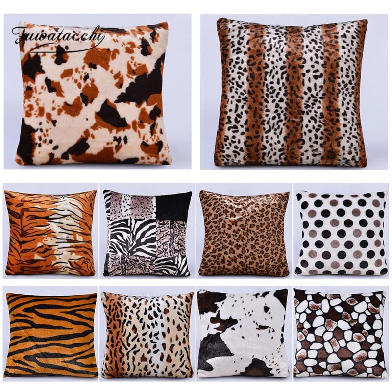 Luxurious Pack of 4 Faux Fur Cushion Covers 43 x 43 cm Home Decor Cushion Cases