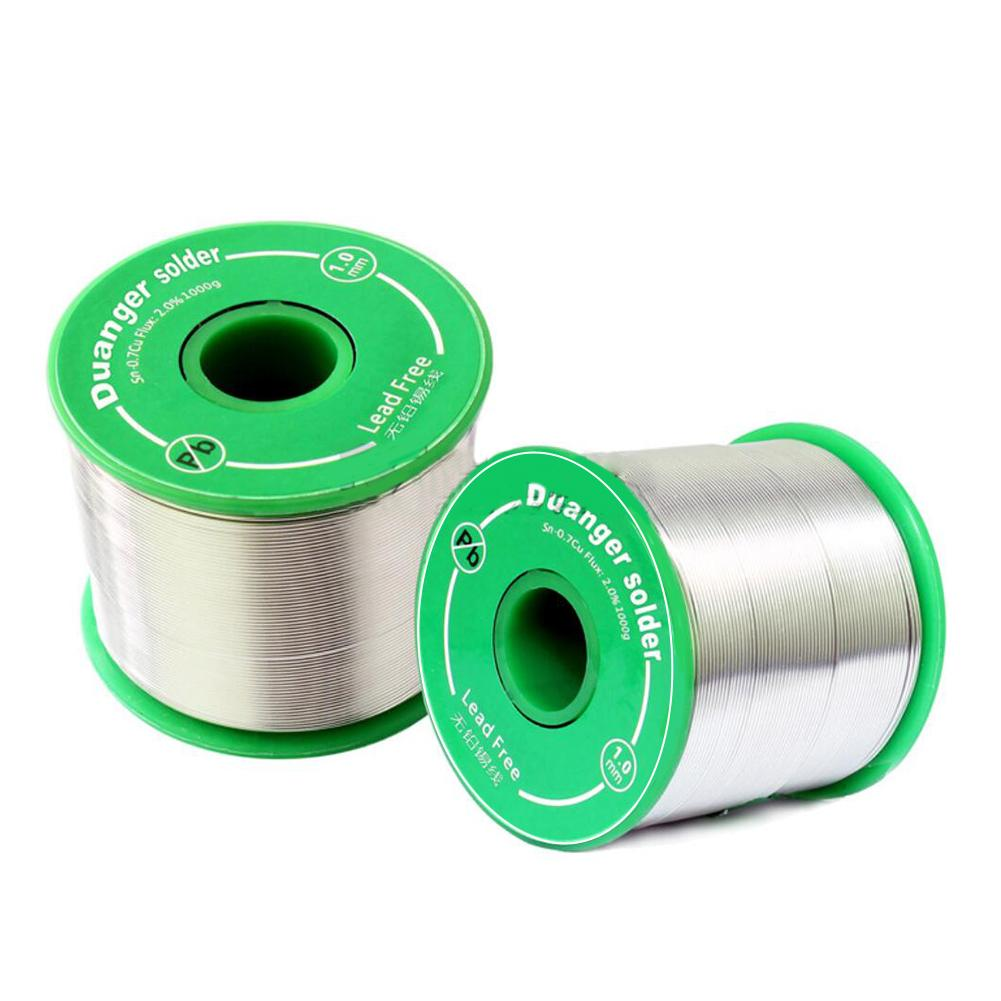 100g Lead-free Solder Wire 0.5-1.0mm Sn99 Ag0.3 Cu0.7 Unleaded Rosin Core For Electrical Solder RoHs Accessories