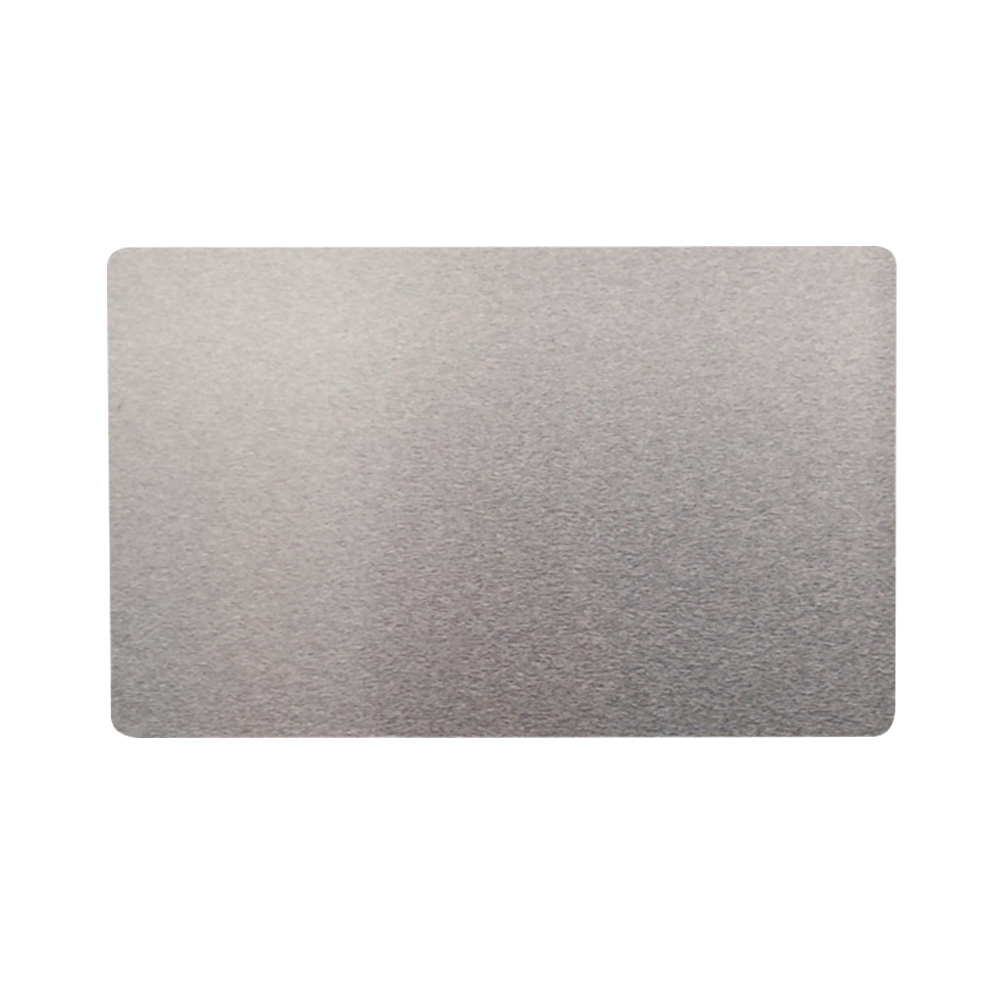 100Pcs Engraved Accessories Identity Blank Card Thermal Transfer Name Smooth Rustproof Business Visiting Aluminium Alloy Marking