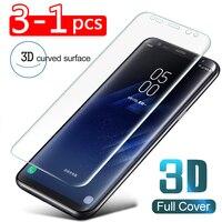 3-1 PCS 3D Protector de pantalla para Samsung Galaxy Nota 9 8 10 Pro S10 E PET cubierta completa para Samsung S10 S9 S8 más S7 borde película suave